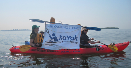 Kayaking South Beach Staten Island